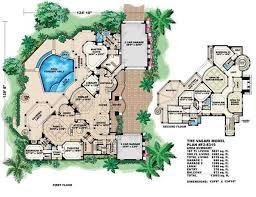 Luxury House Plans   Mediterranean Home Design VASARI       FLOOR PLAN