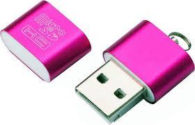 <b>Картридер Exployd</b> EX-AD-267 для <b>microSD</b>, розовый — купить в ...