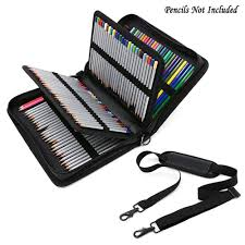 <b>160 Holes Fold PU</b> Leather Pencil Case Large Capacity Portable ...