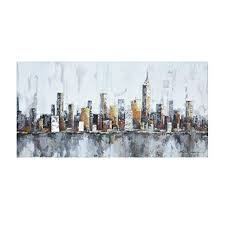 Crescent Art New York Skyline Cityscape Wall Art for ... - Amazon.com