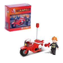 <b>Конструктор</b> «<b>Пожарный мотоцикл</b>», 25 деталей (834666 ...