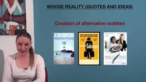 vce whose reality essays