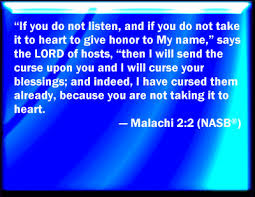 Image result for Malachi 2:2