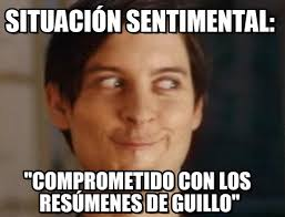 Situación Sentimental: - Spiderman Peter Parker meme en Memegen via Relatably.com