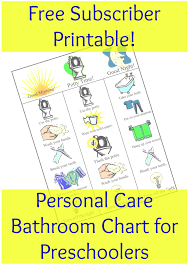 bathroom personal care chart for preschoolers everyday graces printable bathroom chart for subscribers only