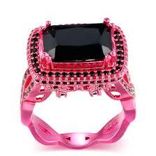 Shop New Luxury <b>Fashion Square</b> Black Cubic <b>Zirconia</b> Pink Gold ...