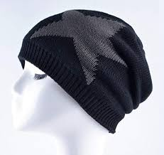 Men's Winter Knitted Beanies Skullies <b>Five</b>-<b>Pointed</b> Star Knit Hats ...