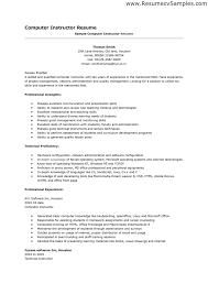 computer skills resume example template socceryourself com computer skills resume examples 4aklcspm