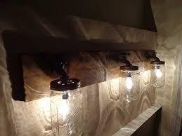 rustic bathroom light fixtures v