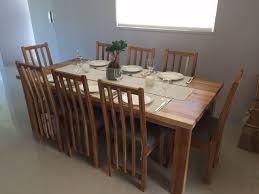 chunky dining table and chairs blackwood dining room set chunky blackwood table and new style chairs pic