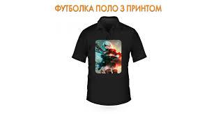 <b>Nier Automata</b> Bright Print Polo Shirt Black в Киеве от PrintMe
