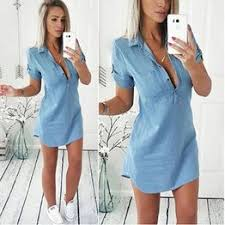 Fashion Women's Summer Short Sleeved Loose Jean Denim ... - Vova