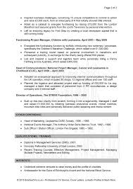 cv examples uk and worldwide cv examples page 2