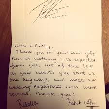 handwritten thank you card after interview sample sample thank rgiii sent fan a wedding gift thank you note