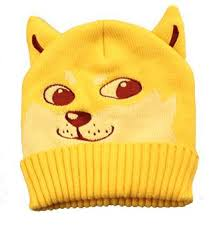 Doge Dog Beanie - A yellow, orange, dark yellowish-brown and a ... via Relatably.com