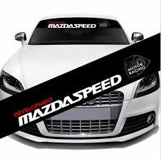 <b>1Pcs</b> DEVELOPMENT MAZDASPEED Sport PVC <b>Luxury Car</b> Front ...