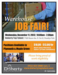 warehouse job fair wednesday in brooklyn park warehouse job fair wednesday 11 in brooklyn park jobs in plymouth