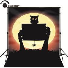 <b>Allenjoy Photographic backdrop</b> Spider Owl Moon Hand <b>Halloween</b> ...