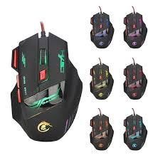 <b>HXSJ H100</b> 3200DPI Wired Optical <b>Game</b> Mouse with Backlight ...