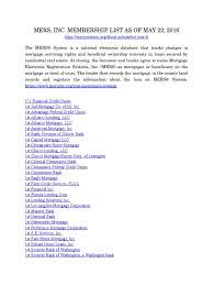 mers inc membership list of 5 566 members as of 22 2016