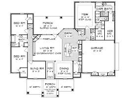 Floor plans  House plans and Floors on PinterestSouth Oaks   House Plan  Put garage door in front and add rd car