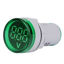 5pcs Green <b>ST16VD</b> 22mm Hole Size 6-100 VDC Digital Voltmeter ...