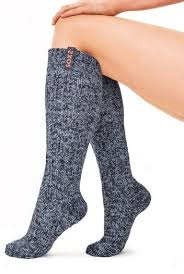 Sokken Dark Grey/<b>Sparkling</b> Cupper Knee High - I love <b>yoga</b>