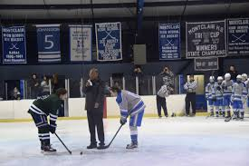 montclair hockey or jackson drops puck in annual mka vs mhs montclair nj montclair or robert jackson was on hand to drop the first puck at the start of friday s montclair mounties vs