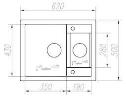 Купить Врезная <b>кухонная мойка</b> 62.5 см <b>Tolero R</b>-<b>109</b> 923 Белый ...