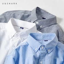 U&SHARK <b>2018 Autumn</b> Oxford <b>Casual</b> Shirts Men Long Sleeve ...