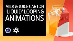<b>Cinema</b> 4D - Milk & Juice <b>Carton</b> Tutorial. Volume Builder 'Liquid ...
