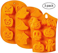 3pc Nonstick <b>Silicone Cake</b> Molds - <b>Muffin</b> Mold with <b>Halloween</b>…