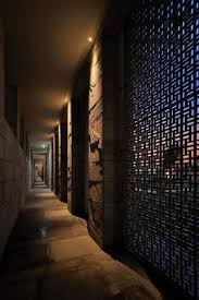 aman new delhi taken by toshio kaneko downlights arranged against each of ambient lighting creates
