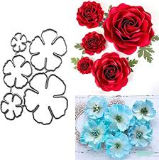 5Pcs/Set Flower Metal Die Cuts, Spring Petal ... - Amazon.com