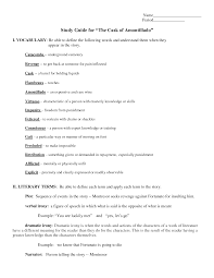 the cask of amontillado worksheet delibertad riamamide22 s soup the cask of amontillado