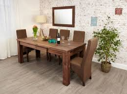 baumhaus mayan walnut extending dining table baumhaus hidden home office 2