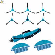 Appliances <b>Roller Main Brush Side</b> Brushes Mop Rag Kit for Conga ...
