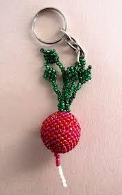 <b>Radish Beaded</b> Keychain   Plastic animals, <b>Beads</b>, Gifts