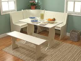 built dining nook white