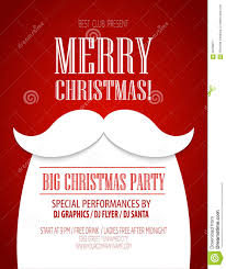 christmas party poster vector illustration stock vector image christmas party poster vector illustration