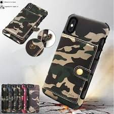 Cool <b>Army Camo Leather</b> Wallet Card Armor Flip Case Cover For ...