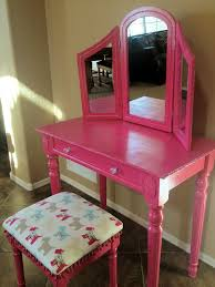 wood makeup vanity table painted