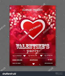 valentines day party flyer design vector stock vector  valentines day party flyer design vector template of invitation flyer poster or greeting