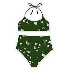 <b>Women Swimsuits</b> Two Piece Floral Halter Push-Up Padded <b>Bikini</b> ...
