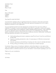 sample administrative cover letter