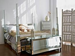 glass bedroom furniture rectangle shape wooden cabinets: mirrored bedroom furniture cheap white grey colors covered bedding sheets dark furniture near glass window white wooden inexpensive nightstand lamp wooden