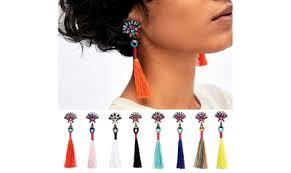<b>Women</b> Tassel Dangle Earrings <b>Bohemian Drop</b> Earrings | Groupon