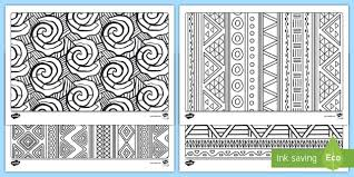 Examples of Traditional <b>African</b> Fabrics Colouring Pages