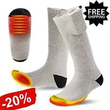 <b>Electric Heated</b> Socks~Rechargeable Battery Feet Foot <b>Winter</b> ...