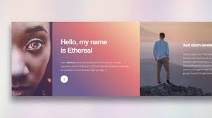 one page portfolio templates ethereal html template